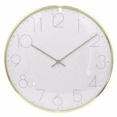 Elegant Wall Clock - Large - Brass Gold - Benzara