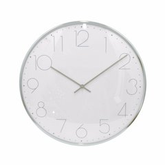 Beautiful Wall Clock - Silver - Benzara