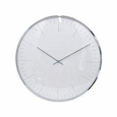 Modish Wall Clock - Small - Silver - Benzara