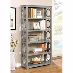 Zoey Contemporary Display Shelf, Gray