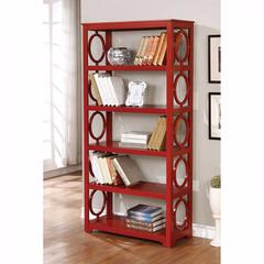 Zoey Contemporary Display Shelf, Red