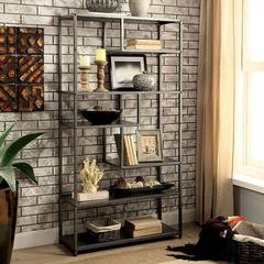 Susie Industrial Display Shelf, Powder Coated Gray