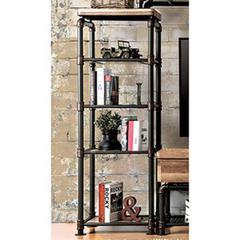 Kebbyll Industrial Style Pier Cabinet, Antiqued Black