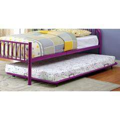Rainbow Contemporary Style Metal Trundle, Purple