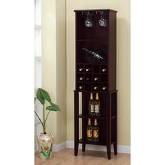 Well Designed Elegant Wine Bar With Wine Racks, Brown