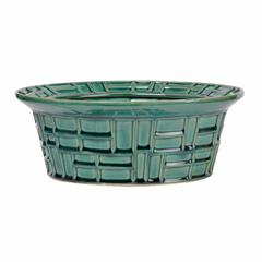 Abstract Pattern Green Bowl