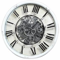 Vintage Vibe Wall Clock, White