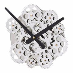 Quirky Black and Silver Wall Clock