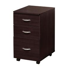 Marlow File Cabinet With 3 Drawers, Espresso Brown