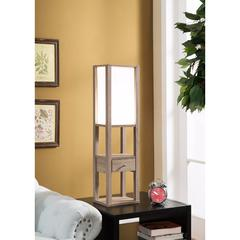 Elegant Table Lamp with Storage, Light Brown