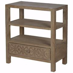 Natural Thayne 3-Tier Shelf With Drawer
