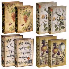 Decorative Book Boxes- Set of 8, Multicolor