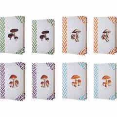 Mushroom Design Imprint Book Boxes, Set Of 8, Multicolor