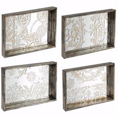 Old Age Design Trays In Set of 4