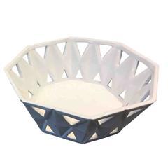 Stylish Ceramic Octagonal Bowl White