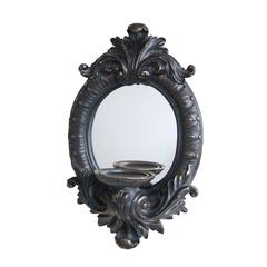 Artfully Authentic Resin Baroque Wall Sconce, Gray