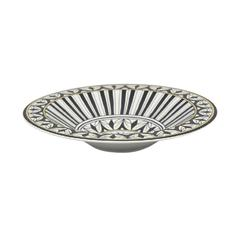 Classic Accented Decorative Ceramic Bowl, Multicolor
