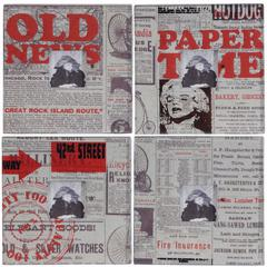 Intriguing Newspaper Style Photo Frames, Multicolor, Set of 4