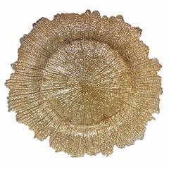 Sublime Glass Charger Plate, Gold