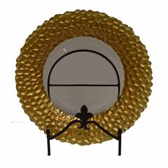 Splendid Round Glass Charger Plate, Gold