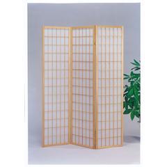 3-Panel Wooden Screen, Natural
