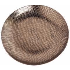 Ceramic Reptile Textured Decorative Plate, Brown