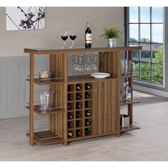 Sturdy Modern Bar Unit with Wine Bottle Storage