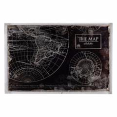 Ancient Map Print Global Tray, MultiColor