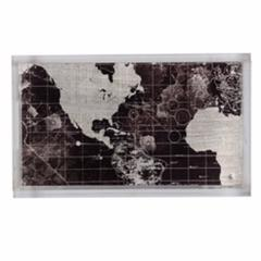 Vintage Map Print Global Tray, Multicolor