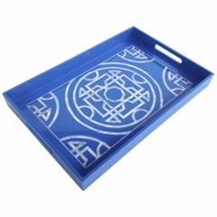 Tremendous Lacquered Serving Tray,  Blue
