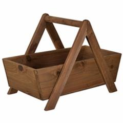Fine-Looking Wood Storage Basket, Brown