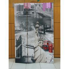 3-Panel Wooden Screen, Scenery, Multicolor