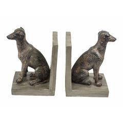 Mighty hounddogs Bookends, brown, set of 2