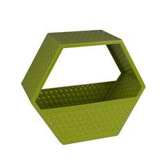 Classy and Convenient Metal Wall Basket, Green