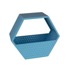 Practically Convenient Metal Wall Basket, Blue