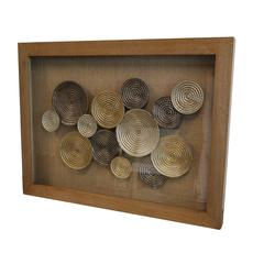 Refined and Cultured Metal Circle Wall Art , Brown