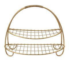 Elegantly Captivated 2-Tier Metal Basket, Gold