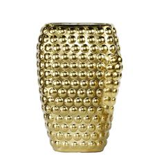 Beautifully Designed Decorative Ceramic Vase With Dots, Gold