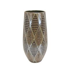 Rustically Charmed Decorative Ceramic Vase, Brown