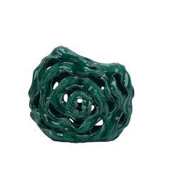 Intriguing Decorative Ceramic Abstract Vase, Green