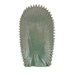 Decorative Ceramic Abstract Vase, Green And Gray