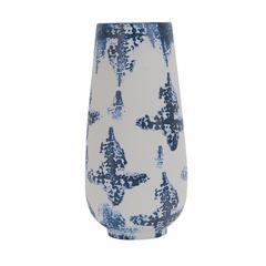 Resplendent Decorative Ceramic Vase, Blue And White