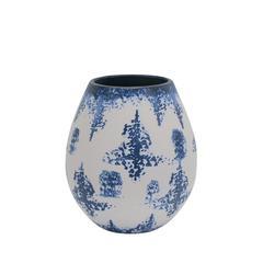 Magnificent Decorative Ceramic Vase, Blue And White