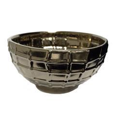 Beautifully Designed Ceramic Decorative Bowl, Bronze
