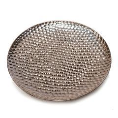 Aesthetic Ceramic Decorative Plate, Bronze