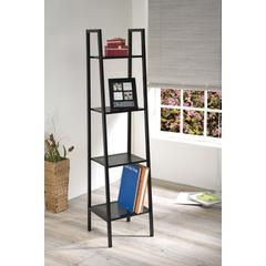 Metal 4 Tier Bookshelf, Black