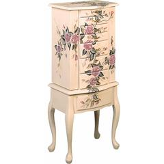 Wooden Fairy Jewelry Armoire, Multicolor