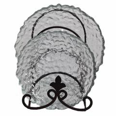 Glass Round Plate, Clear, Set Of 2