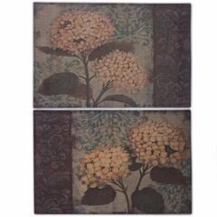 Burlap Flower Wall decor, Multicolor, Set Of 2