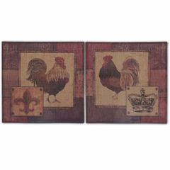 Rooster Wall decor, Multicolor, Set Of 2